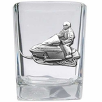 Snowmobile Pewter Accent Shot Glasses, Set of 4