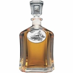 Snowmobile White Capitol Glass Decanter with Pewter Accents