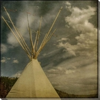 Soaring Poles Teepee Wrapped Canvas Giclee Print Wall Art