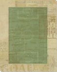 Soccer Field Diagram Wrapped Canvas Giclee Print Wall Art