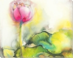 Soft Pink Beauty Flower Wrapped Canvas Giclee Print Wall Art