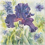 Solitaire Royale Flower IV Wrapped Canvas Giclee Print Wall Art