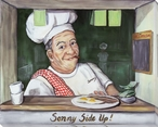 Sonny Side Up Chef Wrapped Canvas Giclee Print Wall Art