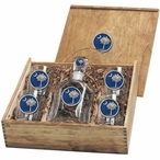 South Carolina Palmetto #2 Blue Capitol Decanter & DOF Glasses Box Set