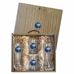 South Carolina Palmetto #2 Blue Pilsner Glasses & Beer Mugs Box Set