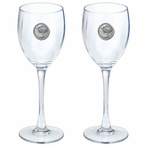 South Carolina Palmetto Pewter Accent Wine Glass Goblets, Set of 2