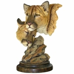 Spellbound Cougars Hand Painted Sculpture