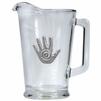 Spirit Hand Glass Pitcher with Pewter Accent