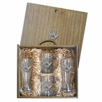 Spirit Hand Pilsner Glasses & Beer Mugs Box Set with Pewter Accents