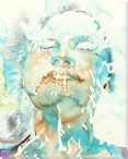 Splash 3 Face Wrapped Canvas Giclee Print Wall Art