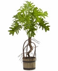 Split Philodendron Silk Plant with Bucket Planter