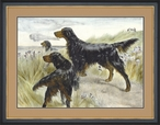 Sporting Life Hunting Dogs Matted and Framed Art Print Wall Art