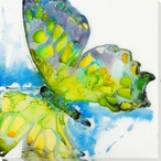 Spring Butterfly Wrapped Canvas Giclee Print Wall Art