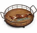 Spring Creek Run Horses Metal and Wood Serving Trays, Set of 2