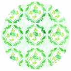 Spring Impressions Round Absorbent Beverage Coasters, Set of 8