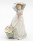 Spring Time Young Lady Porcelain Sculpture by Nadal