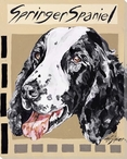 Springer Spaniel Dog Wrapped Canvas Giclee Print Wall Art
