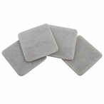 Square White Marble Beverage Coasters, Set of 8