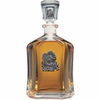 Squirrel Capitol Glass Decanter with Pewter Accents