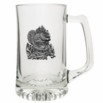 Squirrel Glass Super Beer Mug with Pewter Accent