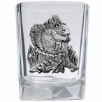 Squirrel Pewter Accent Shot Glasses, Set of 4