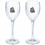 Squirrel Pewter Accent Wine Glass Goblets, Set of 2