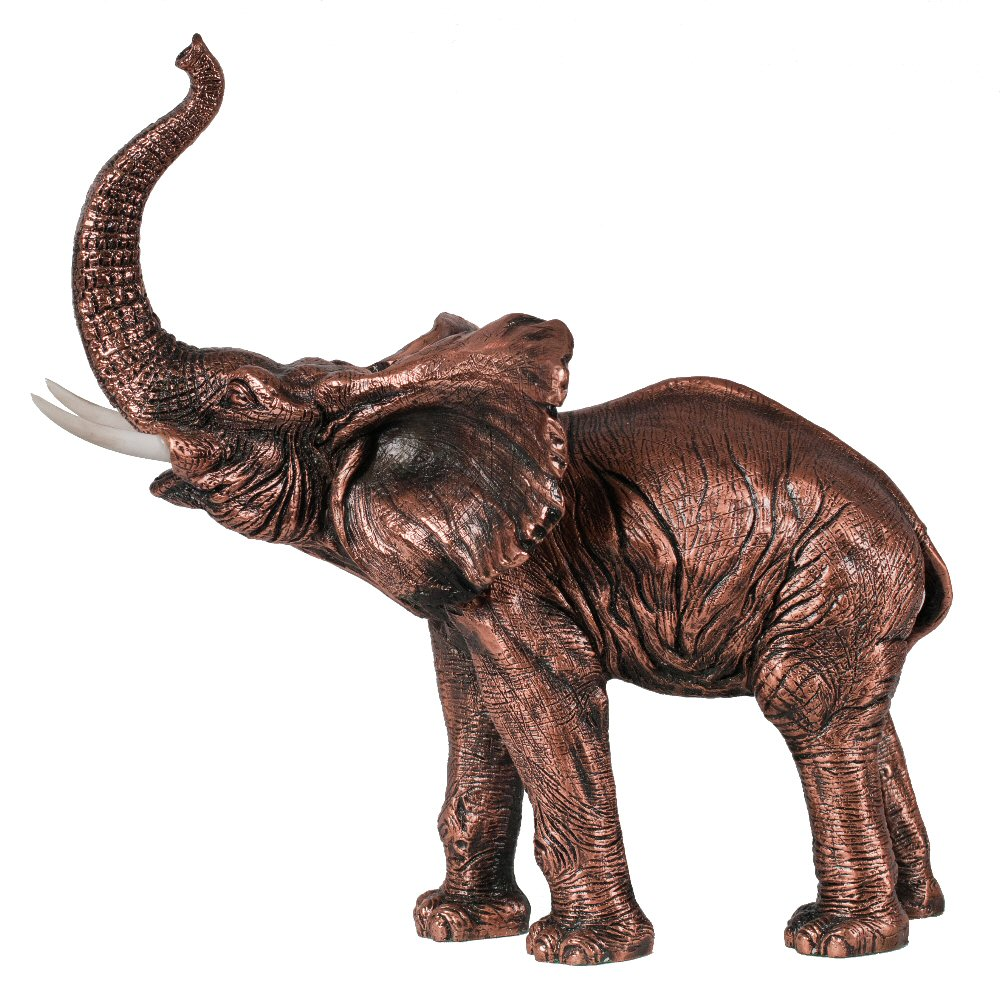 standing elephant statue copper finish. Black Bedroom Furniture Sets. Home Design Ideas