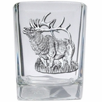 Standing Elk Pewter Accent Shot Glasses, Set of 4
