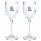 Standing Elk Pewter Accent Wine Glass Goblets, Set of 2
