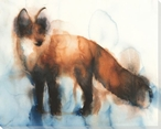 Standing Fox Wrapped Canvas Giclee Print Wall Art