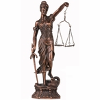 Standing Lady of Justice Statue