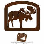 Standing Moose Metal Napkin Holder