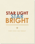 Star Light Star Bright... Saying Wrapped Canvas Giclee Print