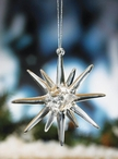 Starburst Glass Christmas Tree Ornaments, Set of 6