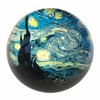 Starry Night Glass Paperweight by Van Gogh