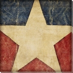 Stars and Bars 1 USA Flag Wrapped Canvas Giclee Print Wall Art