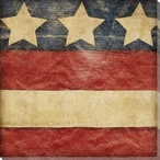 Stars and Bars 3 USA Flag Wrapped Canvas Giclee Print Wall Art