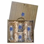 State of Alaska Blue Pilsner Glasses & Beer Mugs Box Set with Pewter