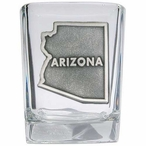 State of Arizona Pewter Accent Shot Glasses, Set of 4