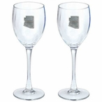 State of Arizona Pewter Accent Wine Glass Goblets, Set of 2