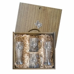 State of Texas Pilsner Glasses & Beer Mugs Box Set with Pewter Accents