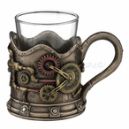 Steampunk Gears Shot Glasses, Set of 2