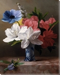 Still Life in a Blue Vase Wrapped Canvas Giclee Print Wall Art