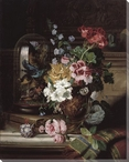 Still Life of Flowers in an Urn Wrapped Canvas Giclee Print