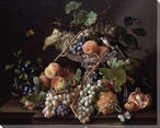 Still Life of Fruit Wrapped Canvas Giclee Print Wall Art