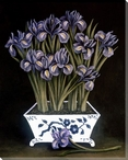 Still Life of Irises Wrapped Canvas Giclee Print Wall Art