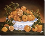 Still Life of Oranges Wrapped Canvas Giclee Print Wall Art