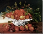 Still Life of Plums Wrapped Canvas Giclee Print Wall Art