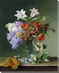 Still Life of Pretty Flowers Wrapped Canvas Giclee Print Wall Art