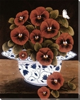 Still Life of Red Poppies Wrapped Canvas Giclee Print Wall Art